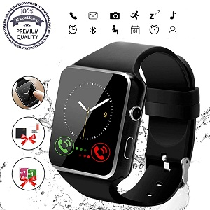 Bluetooth Smartwatch Touch Screen Wrist Watch with Camera by Pradory