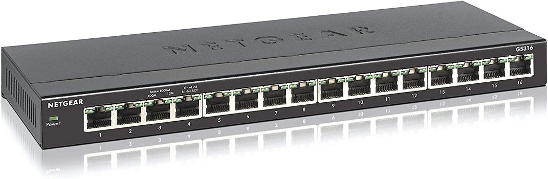 NETGEAR 16-Port Gigabit Ethernet Network Switches for Gaming
