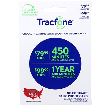 Tracfone 450 minute 79.99 at Family Dollar