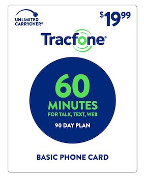 Tracfone 90 Days Basic Phone Plan - 60 Minutes at Family Dollar