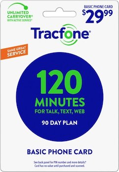 Tracfone 90 Days Basic Phone Plan - 120 Minutes at Family Dollar
