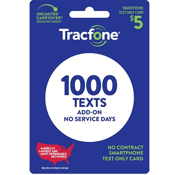 Tracfone Text-Only Plan - 1,000 Texts at Family Dollar