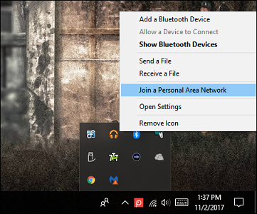 Internet connection via Bluetooth in PC