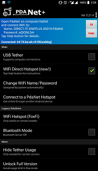 Third party app for Share Mobile Data Without Hotspot