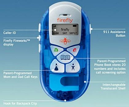 Blue unlocked firefly cellular phones